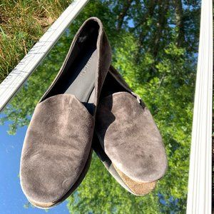 Vince Grey Suede Slip On Flats